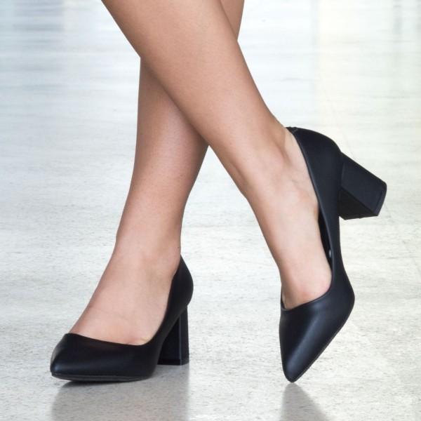 Pantofi cu Toc LLH18A Black Mei