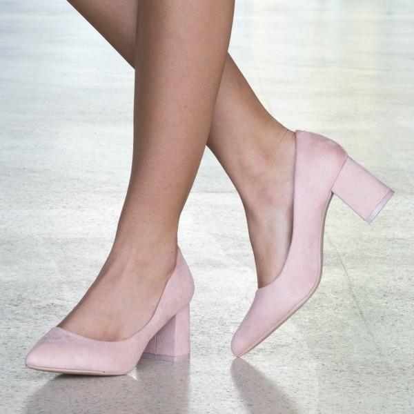 Pantofi cu Toc LLH18 Pink Mei
