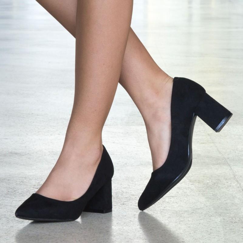 Pantofi cu Toc LLH18 Black Mei
