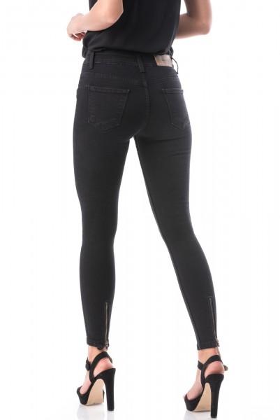 Jeans Dama 7013 Negru Adrom
