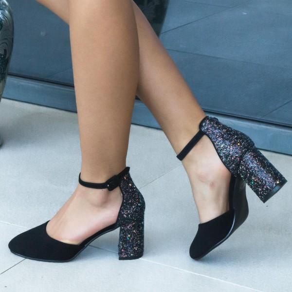 Pantofi cu Toc XD117A Purple Mei