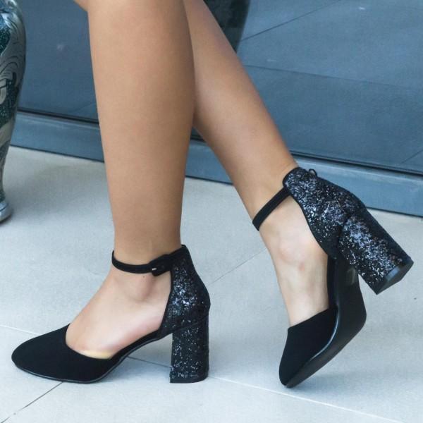 Pantofi cu Toc XD117A Black Mei