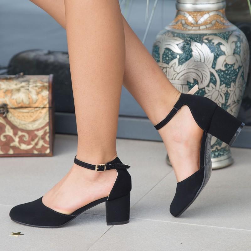 Pantofi cu Toc QZL200A Black Mei