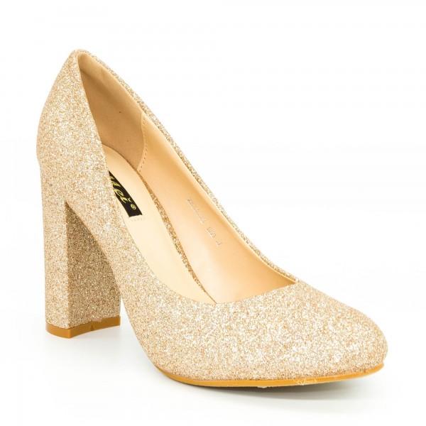 Pantofi cu Toc XKK130B Champagne Mei