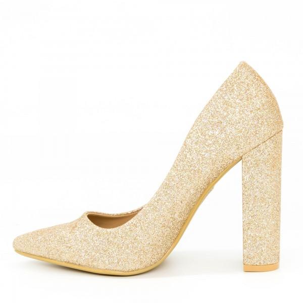 Pantofi cu Toc XD30B Champagne Mei