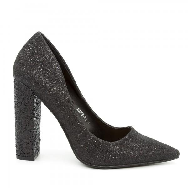 Pantofi cu Toc XD30B Black Mei