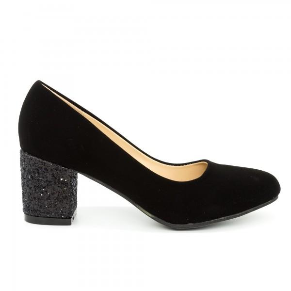 Pantofi cu Toc QZL198A Black Mei
