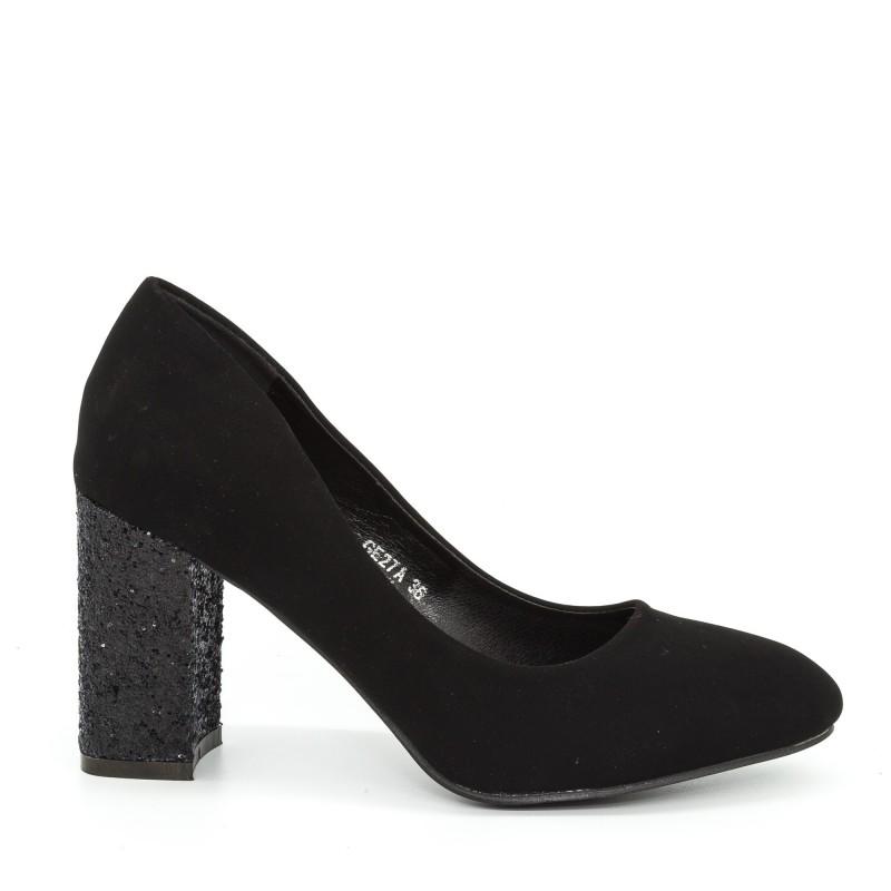 Pantofi cu Toc GE27A Black Mei