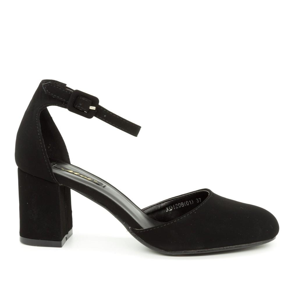 Pantofi cu Toc XD120B Black Mei