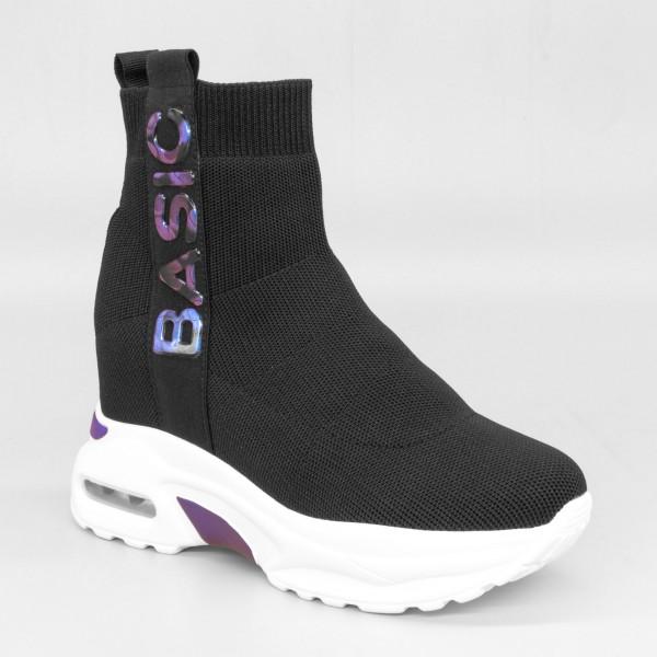 Pantofi Sport cu Platforma Dama SZ187 Black-Blue Mei