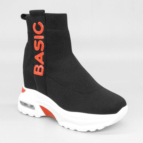 Pantofi Sport cu Platforma Dama SZ187 Black-Red Mei