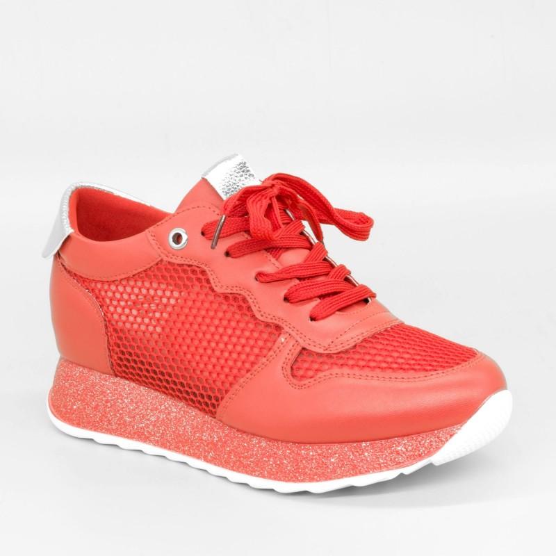 Pantofi Sport cu Platforma Dama SZ186 Red Mei
