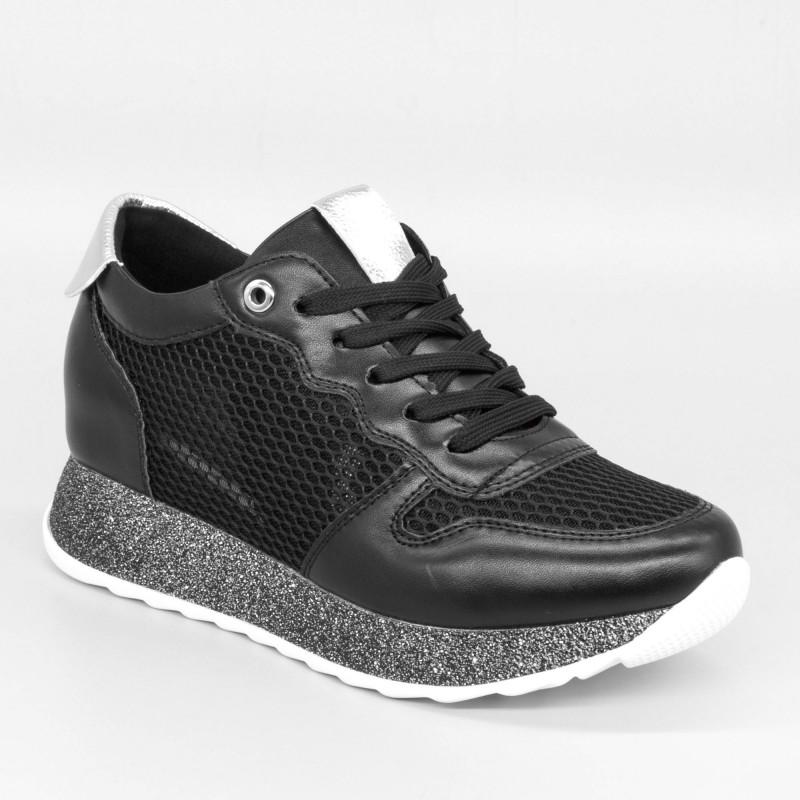 Pantofi Sport cu Platforma Dama SZ186 Black Mei