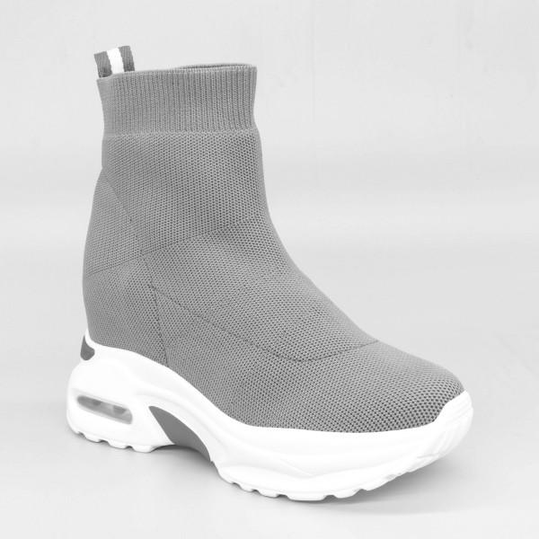 Pantofi Sport cu Platforma Dama SZ185 Grey Mei