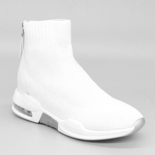 Pantofi Sport cu Platforma Dama SZ180 White Mei