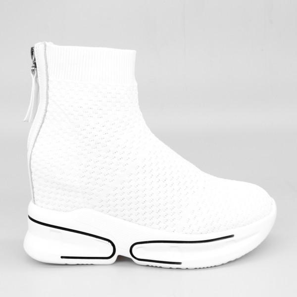 Pantofi Sport cu Platforma Dama SJN202 White Mei