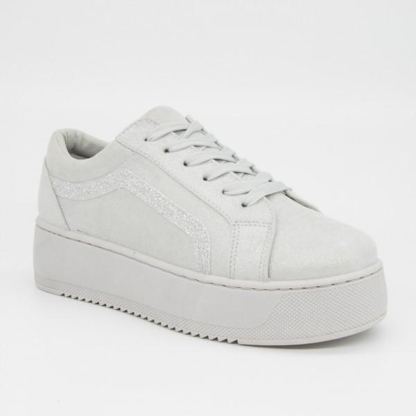 Pantofi Sport cu Platforma Dama GB26 Grey Mei