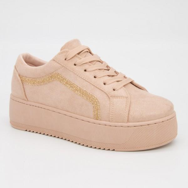 Pantofi Sport cu Platforma Dama GB26 Pink Mei