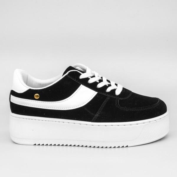Pantofi Sport cu Platforma Dama GB25 Black Mei