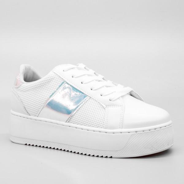 Pantofi Sport cu Platforma Dama GB21 White Mei