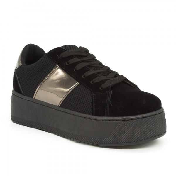 Pantofi Sport cu Platforma Dama GB21 Black Mei
