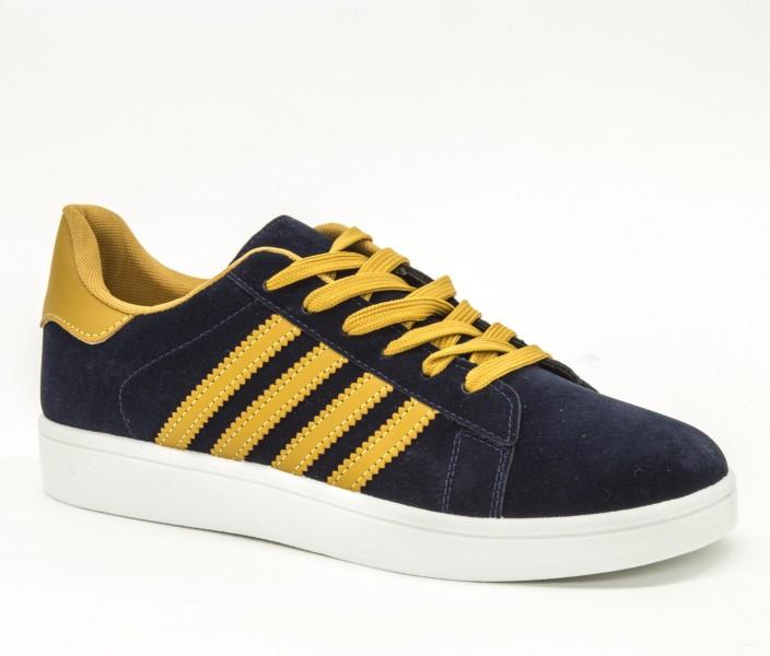 Pantofi Sport Barbati A6 Blue-Yellow Sport Fashion