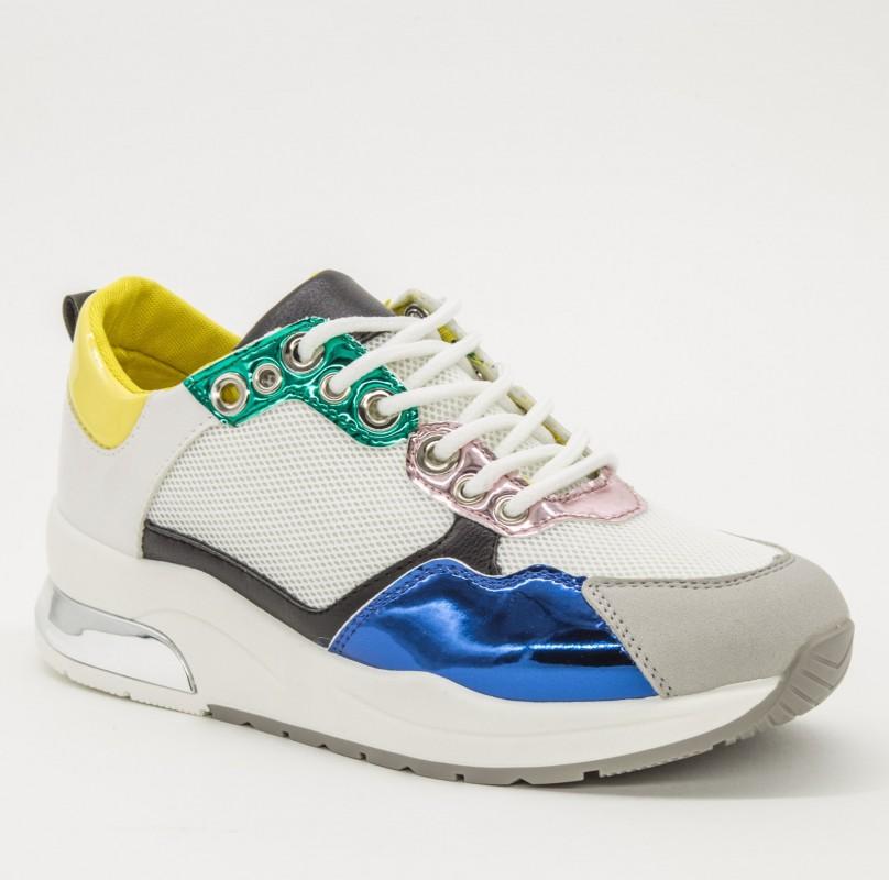Pantofi Sport Dama 8802 White Sport Fashion