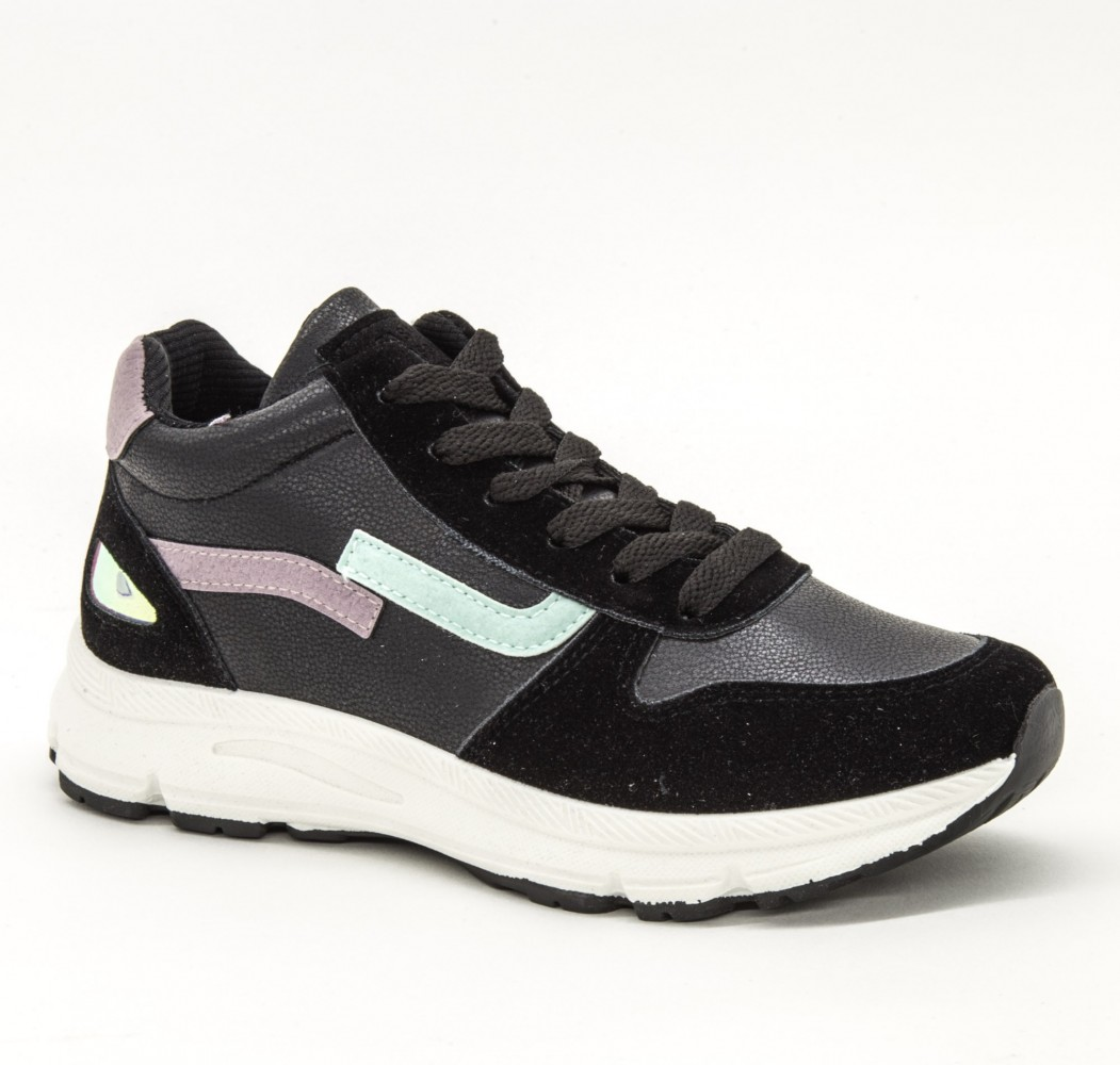 Pantofi Sport Dama 1526 Black Sport Fashion