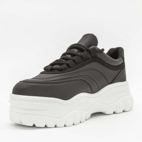 Pantofi Sport cu Platforma Dama YKQ38 Black Mei
