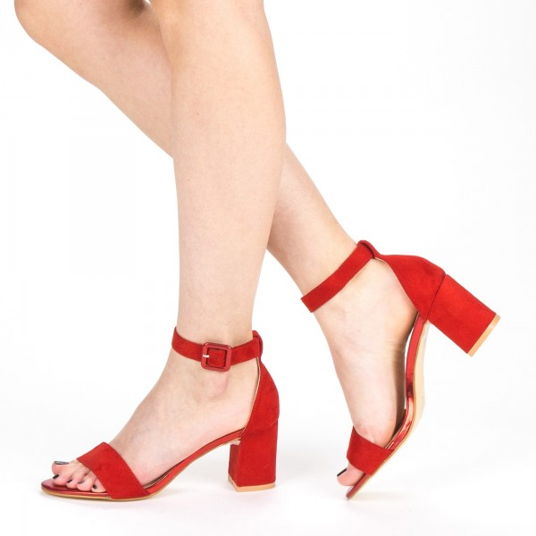 Sandale Dama cu Toc XD210 Red Mei