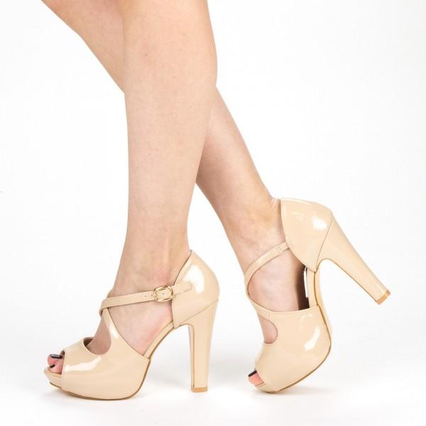 Sandale Dama cu Toc XD206 Nude Mei