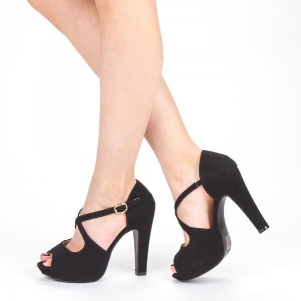 Sandale Dama cu Toc XD206 Black Mei