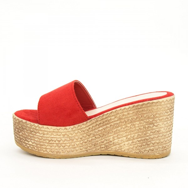 Papuci cu Platforma Dama WS116 Red Mei