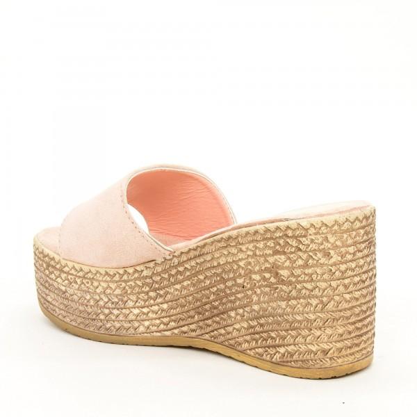 Papuci cu Platforma Dama WS116 Pink Mei