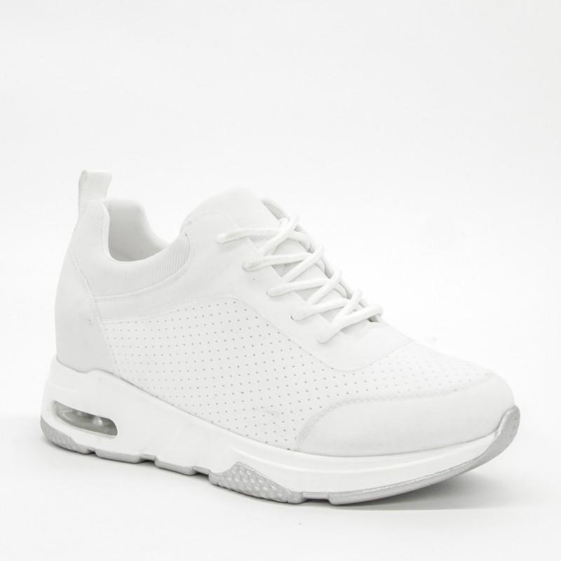 Pantofi Sport cu Platforma Dama SZ196 White Mei