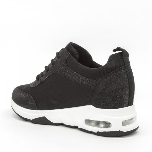 Pantofi Sport cu Platforma Dama SZ196 Black Mei