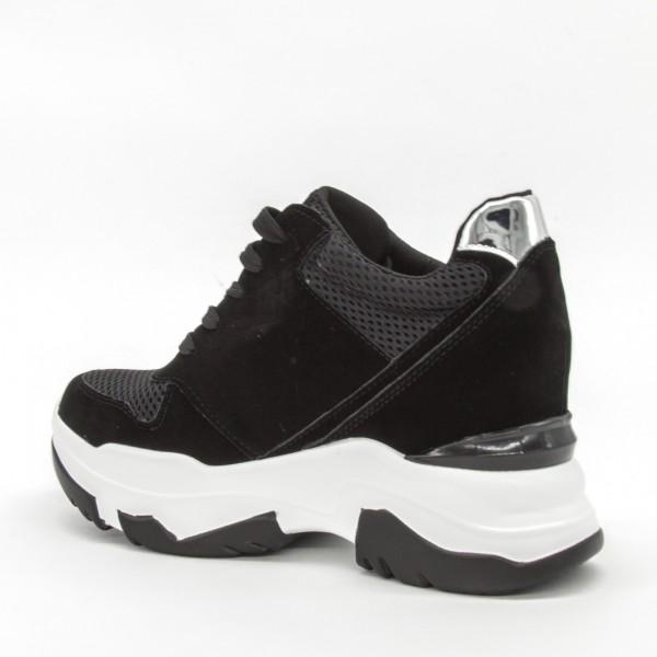 Pantofi Sport cu Platforma Dama SZ195 Black Mei