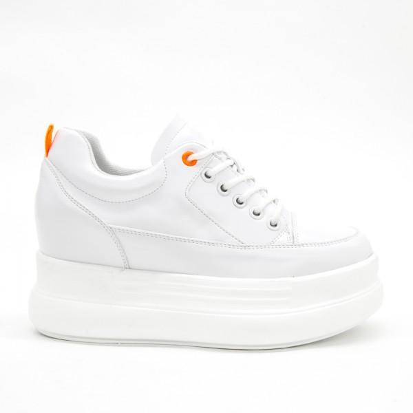 Pantofi Sport cu Platforma Dama SJN261 White Mei