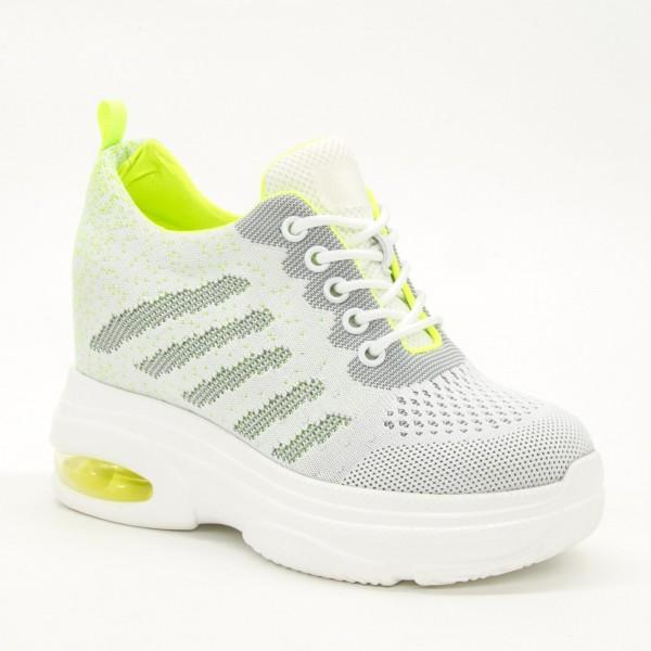 Pantofi Sport cu Platforma Dama SJN258 White Mei