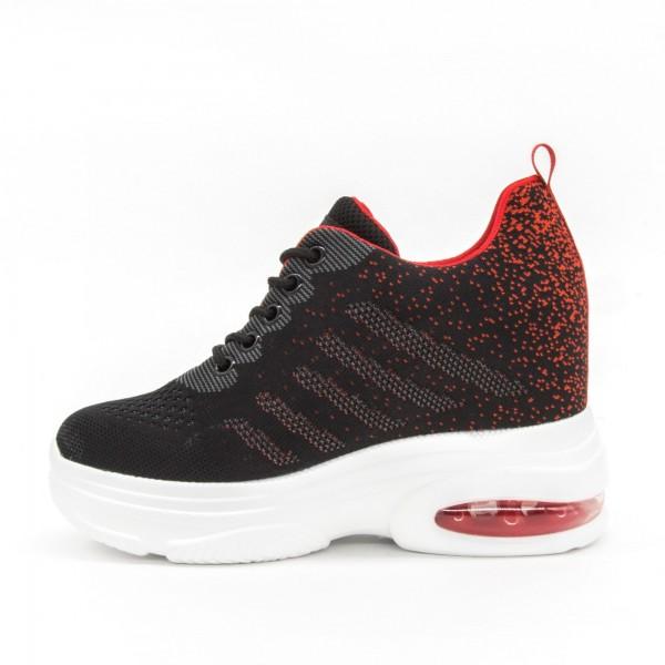 Pantofi Sport cu Platforma Dama SJN258 Black Mei