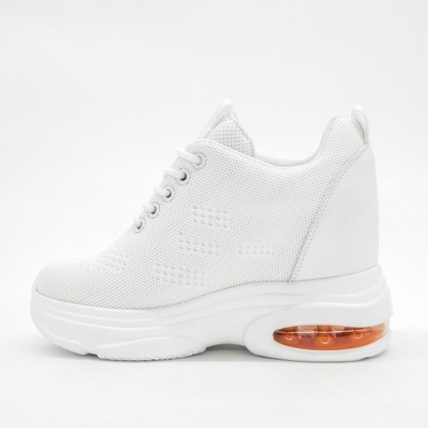 Pantofi Sport cu Platforma Dama SJN256 White-Orange Mei