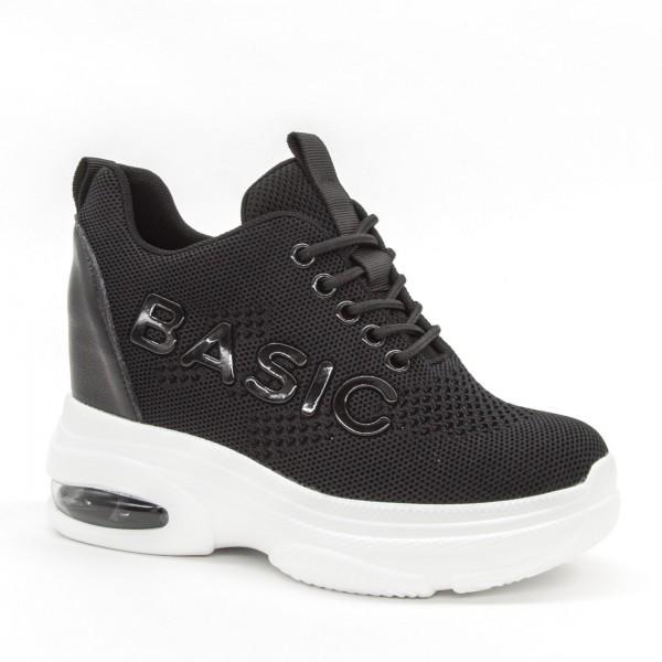 Pantofi Sport cu Platforma Dama SJN256 Black Mei