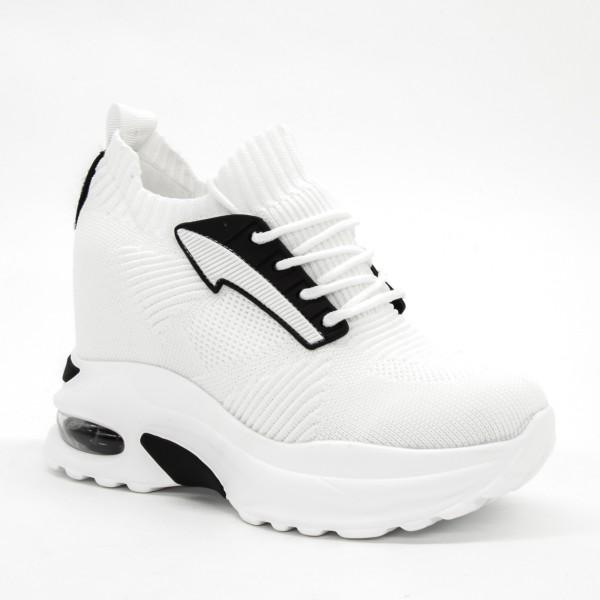 Pantofi Sport cu Platforma Dama SJN255 White Mei