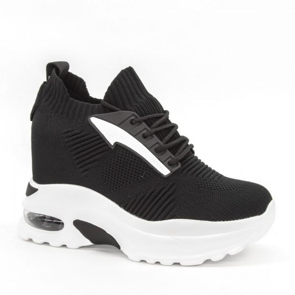 Pantofi Sport cu Platforma Dama SJN255 Black Mei
