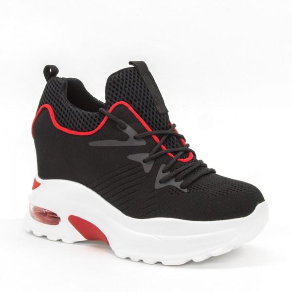 Pantofi Sport cu Platforma Dama SJN253 Black Mei