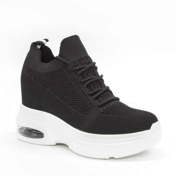 Pantofi Sport cu Platforma Dama SJN252 Black Mei