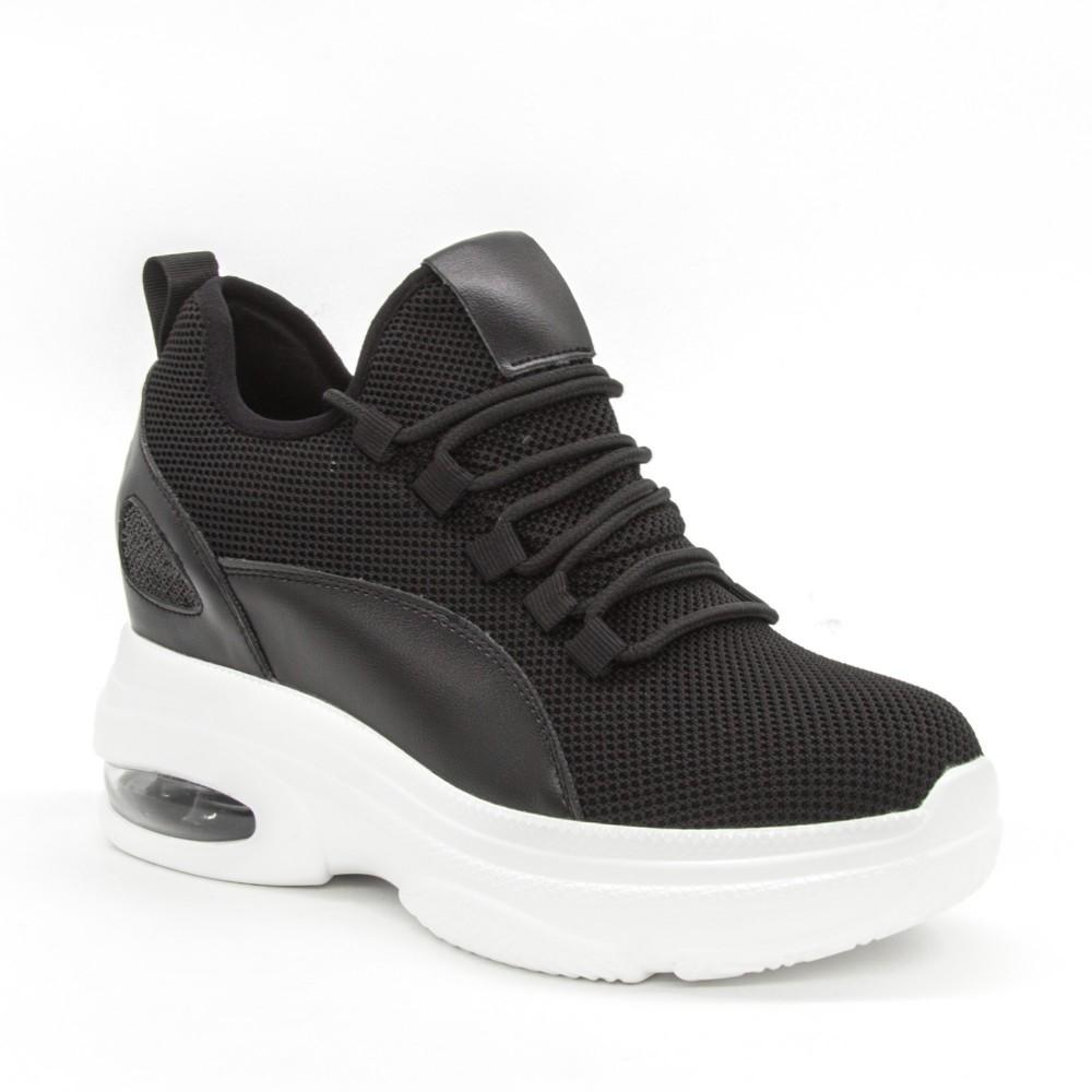 Pantofi Sport cu Platforma Dama SJN251A Black Mei