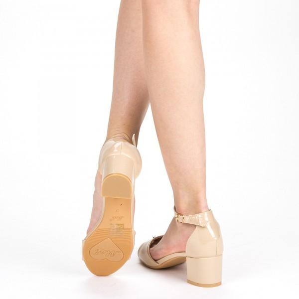 Sandale Dama cu Toc QZL218A Nude Mei