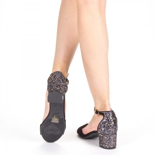 Sandale Dama cu Toc QZL218 Gold Mei
