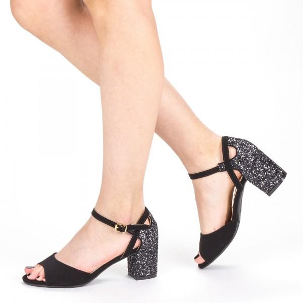 Sandale Dama cu Toc QZL217A Guncolor Mei
